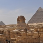 Giza sphinx and pyramids